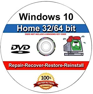 9th and Vine Compatible Windows 10 Home 32/64 Bit DVD. Install To Factory Fresh, Recover, Repair and Restore Boot Disc. Fix PC, Laptop and Desktop.