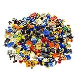 10 x Lego System Figuren Town City Mini Figur mit Zubehör Mann Frau zufällig gemischt