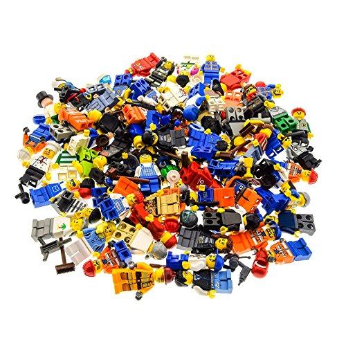 Bausteine gebraucht 10 x LEGO Sistema Figure Town City Mini Figura con accessori uomo donna zufällig misto