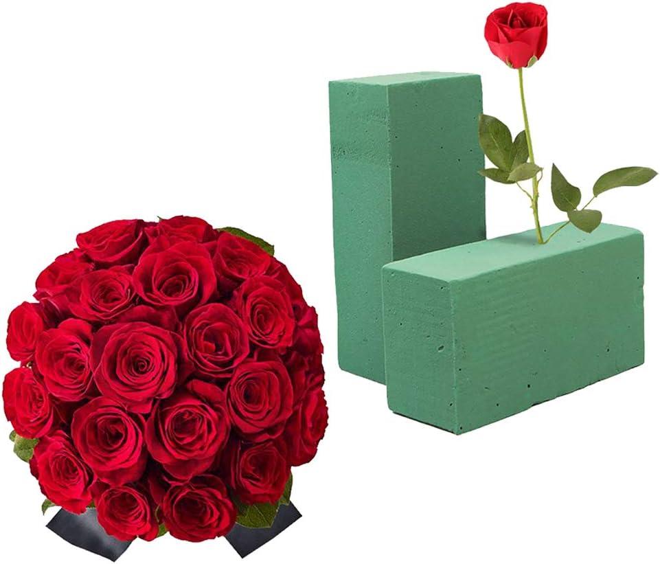 Bastelarbeiten grau Trockenbl/öcke Steckschaum-Ziegel f/ür Floristen Blumengestecke Oase Halterung f/ür k/ünstliche Blumen
