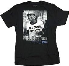 Darling Souvenir Hi Fidelity Willie Nelson Shotgun Willie 1973 T-Shirt - Black