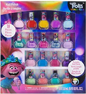 Townley Girl Dreamworks Trolls Non-Toxic Peel-Off Nail Polish, Deluxe Set for Kids, some..