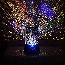 EP(US) Generic Colorful Twilight Romantic Sky Star Master Projector Lamp, Starry LED Night Light Kids Bedroom Bed Light for Christmas Light blue)