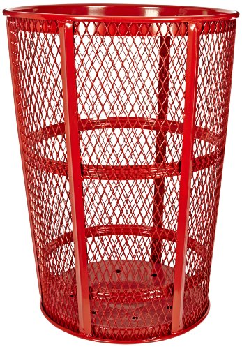 Witt Industries EXP-52RD Steel 48-Gallon Outdoor Waste Receptacle, Round, 23