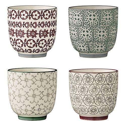 Bloomingville kleine Becher Karine, grau grün lila, Keramik, 4er Set