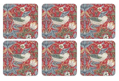 Pimpernel Strawberry Thief Red Untersetzer 6 Stück (s)