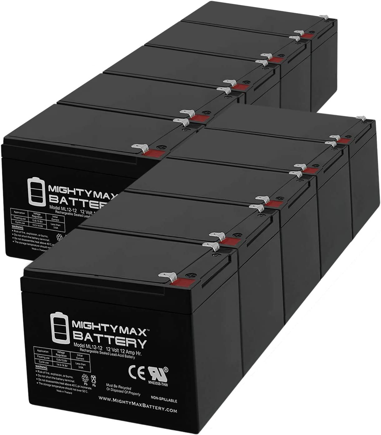Mighty Ranking TOP19 Max Battery 12V 12AH Replaces APC unisex BackUPS Pro SLA