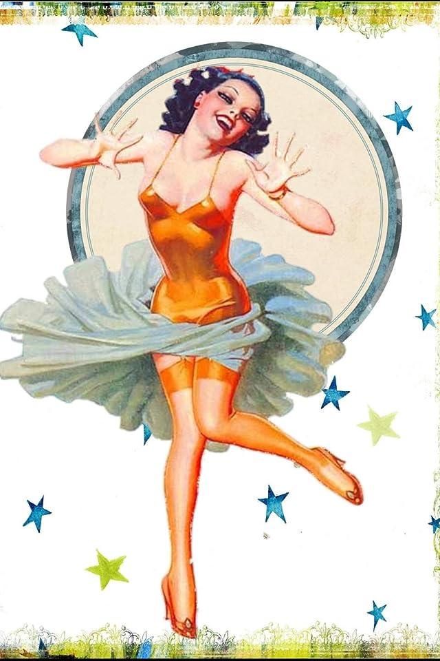 トラクターマスク事Vintage Pin-Up Girl: Retro Sexy 1940's 1950's Art Notebook - Lined 120 Pages 6x9 Journal
