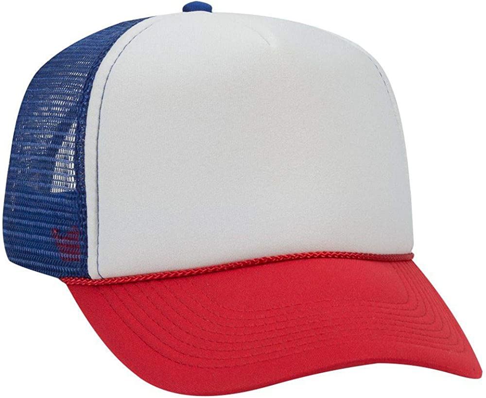 Otto Polyester Foam Front 5 Panel Mesh Style Trucker Pro Limited price sale Back Ha Max 47% OFF