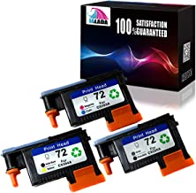 Jalada 3X HP72 printheads HR-72 for C9384A with New Updated Chips Compatible with HP Designjet T610 T620 T770 T790 T1100 T1120 1200 T1300 T2300