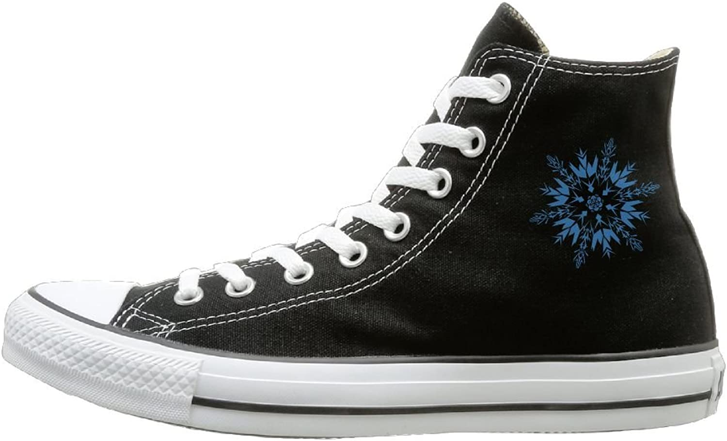Classic High-Top Canvas Sneakers bluee Snowflake Casual Sneakers Canvas shoes With Rubber Sole