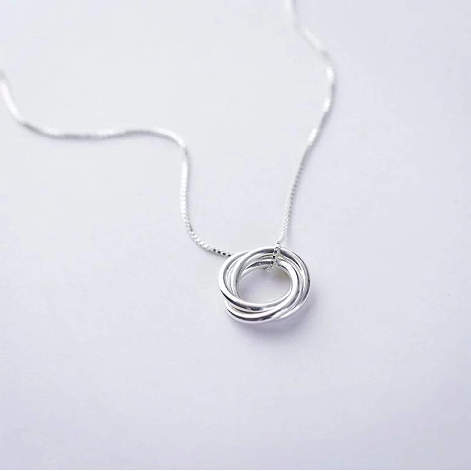 Necklace Pendant Vintage Charming Three Circle Pendant Necklace for Women Chain Choker Collar collares Christmas Mother's Day Valentine's Day Birthday Gift