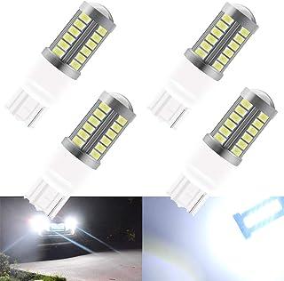 4 unids Blanco T20 7440 7440NA 7441 992 5630 33SMD Bombillas LED Canbus 900LM Super brillante Luz de marcha atrás Luz de estacionamiento Luces antiniebla traseras Posición Luz trasera 12-30V 3.6W
