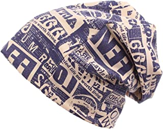 Unisex Stretch Beanie Hat Breathable Comfortable Letter Printing Cap For Outdoor Sports Climbing Cycling Hats & Caps (Colo...