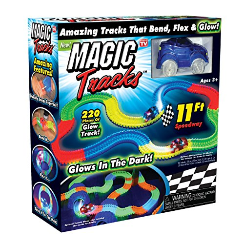 Ontel Magic Tracks The Amazing Racetrack That Can Bend, Flex and Glow - As Seen On TV Multicolor, 11