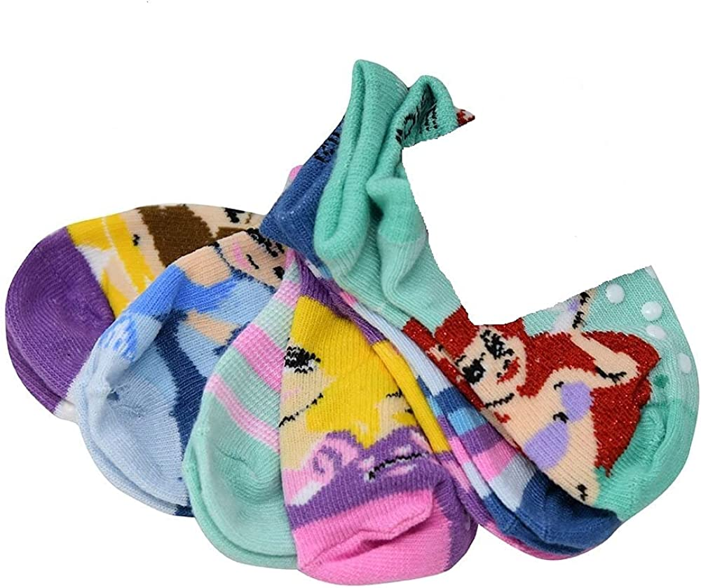 Disney Princess Toddler Girls 6 Pairs of Socks, 18-24 Months, Multicolor