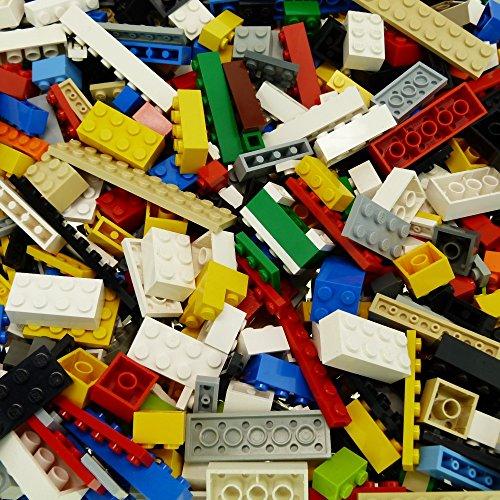 200 Lego Basic Bau Steine bunt gemischt z.B. rot gelb blau grün weiß orange schwarz grau