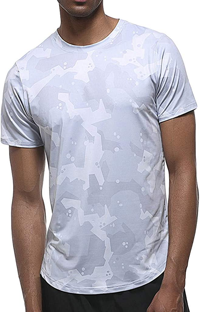 1 year warranty Fastbot Men's Camouflage Print Dry Breathable Atlanta Mall Fitness Tightening