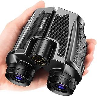 Apexel 10X25 Porro Prism Compact Folding Binoculars for Adults and Kids,Weak Light Night Vision Binoculars for Hunting, Bi...