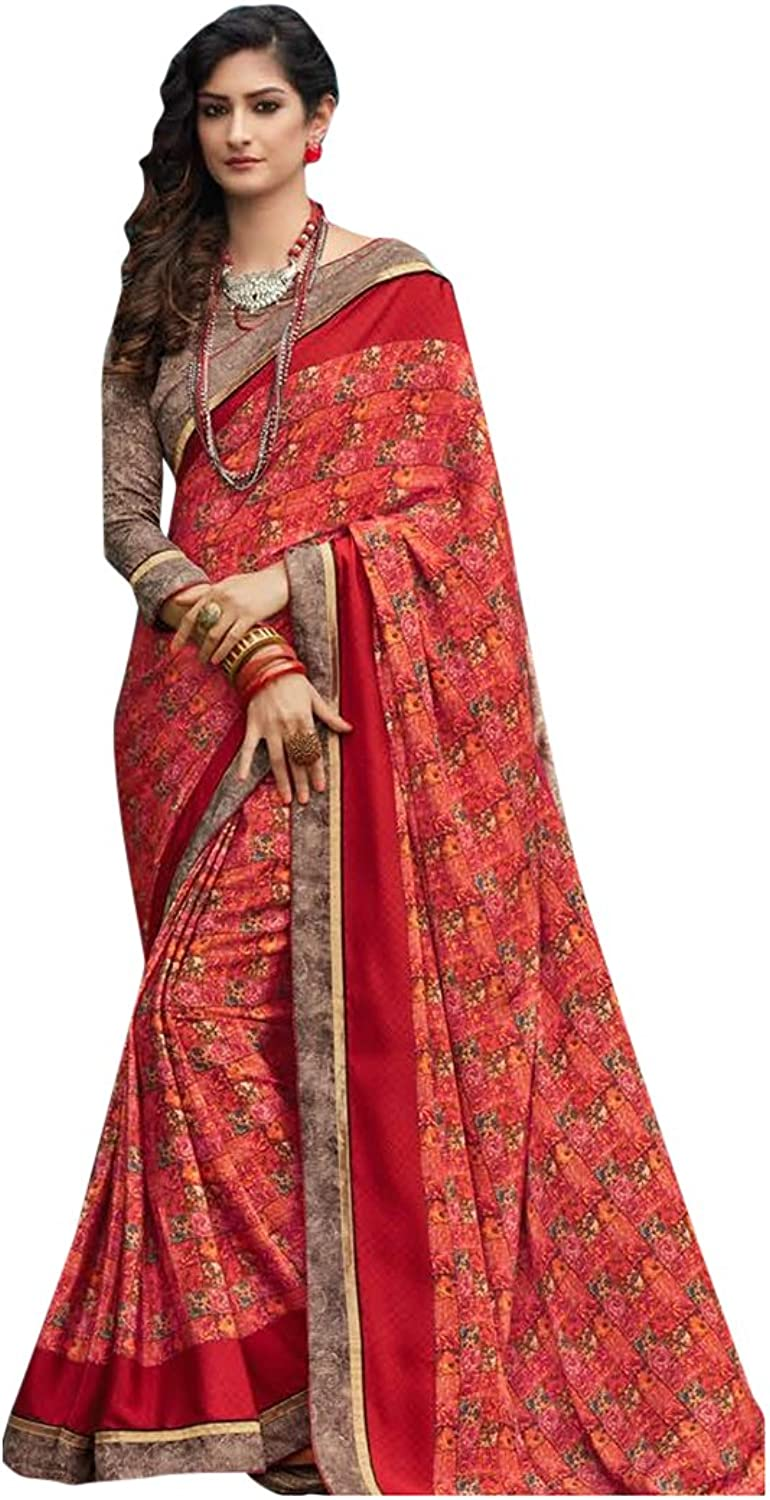 Bollywood Bridal Saree Sari for Women Collection Blouse Wedding Party Wear Ceremony 827 9