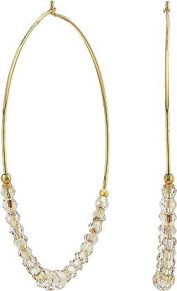 Swarovski Crystal Hoop Earrings