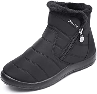 Warm Snow Boots, Women's Winter Ankle Bootie Anti-Slip...