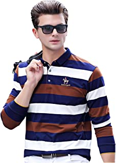 Hey~Yo Mens Autumn and Winter Fashion Slim Fit Knitted Lapel T-Shirt Casual Sweatshirts Jumper Shirt Long Sleeve Pullover ...