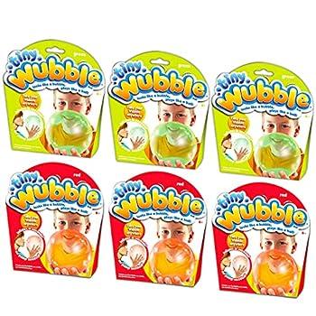 Tiny Wubble Bubble Ball Super 6 Pack ~ Kids Party Favors Activities Toys Bundle | 6 Tiny Wubbles with Glo Wubble Bubble Balls  Kids Party Supplies