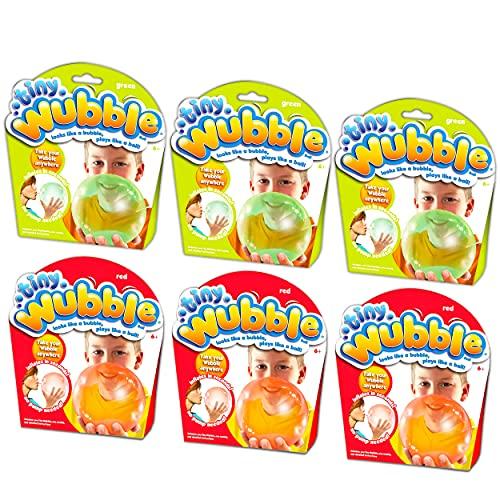 Tiny Wubble Bubble Ball Super 6 Pack ~ Kids Party Favors Activities Toys Bundle   6 Tiny Wubbles with Glo Wubble Bubble Balls (Kids Party Supplies)