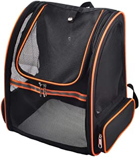 XingKunshop Full Net Pet Bag Pet Carrier Backpack for Small Dogs and Cats Great Mesh Ventilation, Outgoing Portable Cat Bag Good for Hiking Travel Or Outdoor Use Walking,Outgoing Travel,Hiking,Outdoo