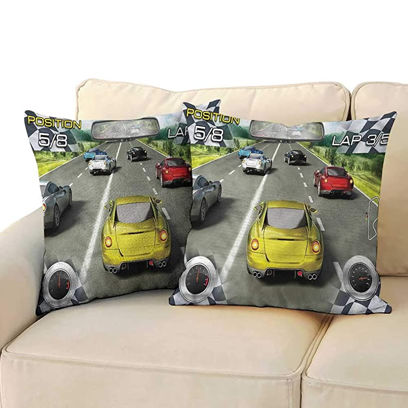 Cars Fashion Pillowcase Motor Sports Racing Protect The Waist W14 x L14