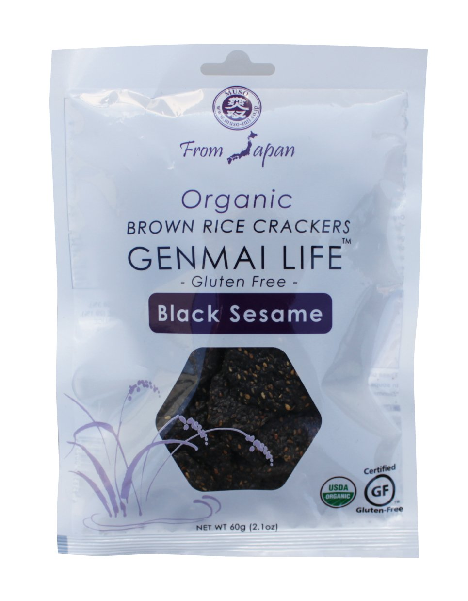 Muso Some reservation From Japan Genmai Life Rice Organic Crackers Max 70% OFF Brown Black