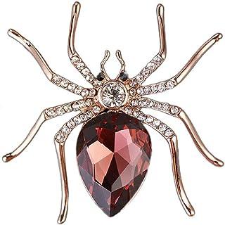 Spilla Con Ragno, Sciarpa E Spille Con Diamanti Animali