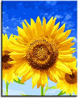 """Various Sunflower Series Paint by Numbers for Adults Kids Beginners Easy Acrylic on Canvas 16""""x20""""with Paints and Brushes,..."""