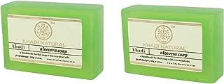 Khadi Natural Aloevera Handmade Soap, 125g (Pack of 2)