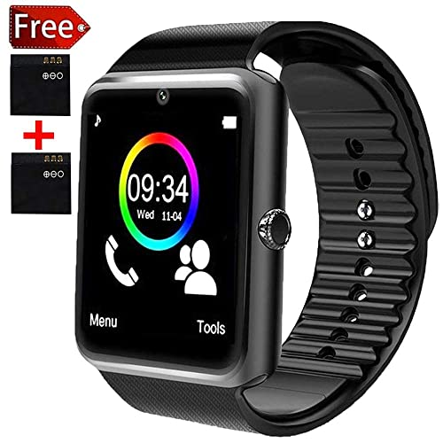 Bluetooth Smart Watch - Smartwatch for Android Phones with SIM Card Slot Camera, Fitness Watch
