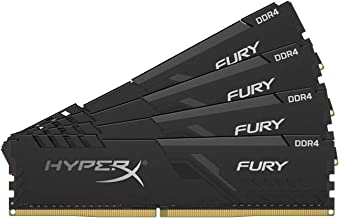 HyperX Fury 64GB 3200MHz DDR4 CL16 DIMM (Kit of 4)  Black XMP Desktop Memory HX432C16FB3K4/64