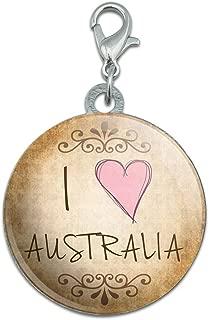 I Heart Love Australia Vintage Stainless Steel Pet Dog ID Tag