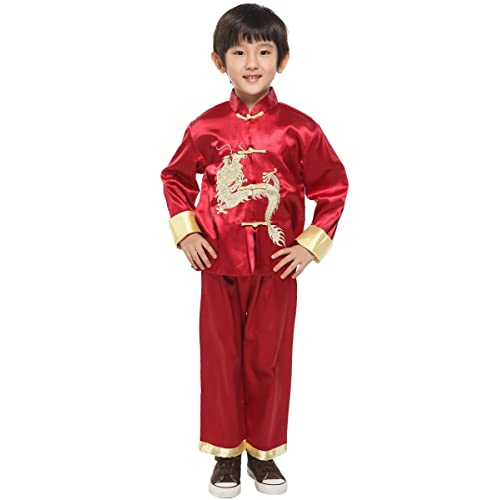 Child CHINESE GIRL BOY Oriental International Fancy Dress Costume Outfit China