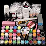 Morovan Acrylic Nail Kit with Acrylic Powder Liquid Monomer and Basic Acrylic Nail Art Tools Nail DIY Decoration Acrylic Nails Starter Kit Gift Box Set