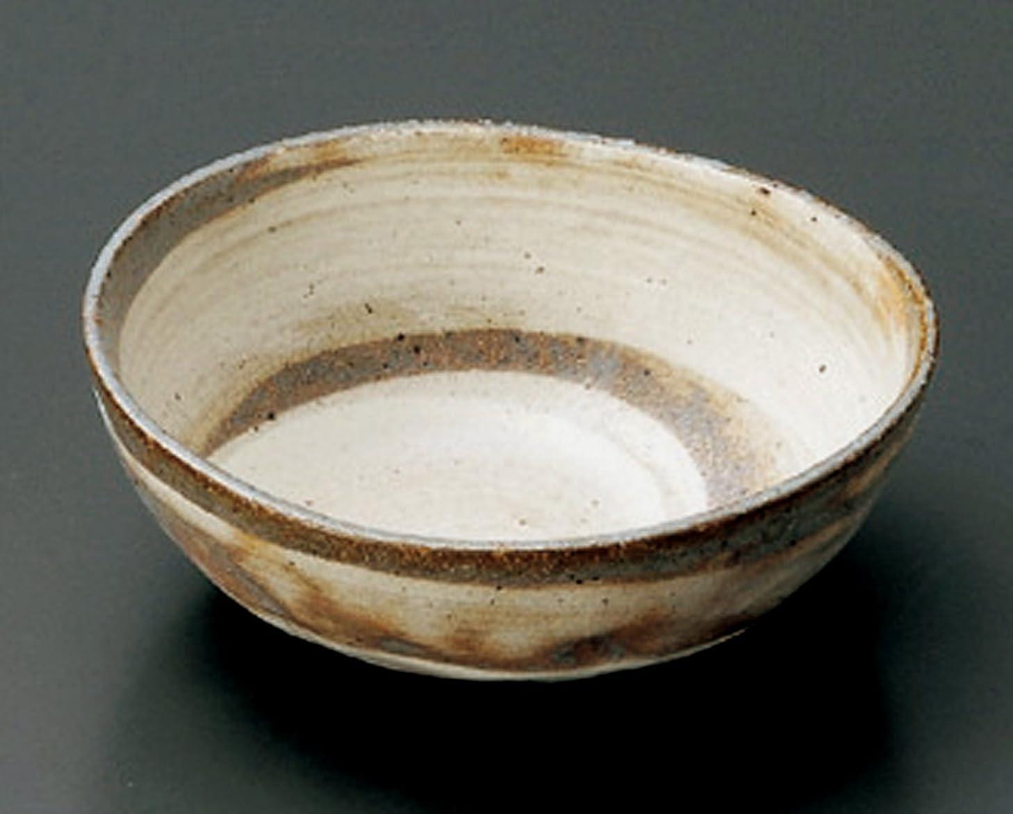 ヘビ大気信条粉引刷毛目 楕円 13.5cm 小鉢 前菜用に取り鉢にも