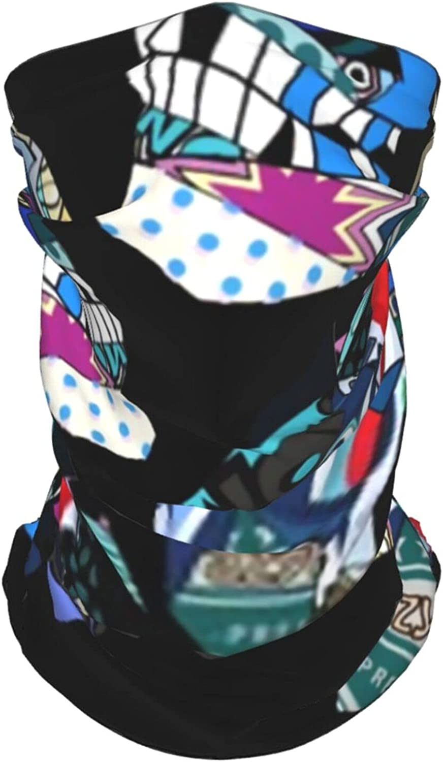 Cool Skulls Beauty Summer Ice Silk Breathable Face Mask Neck Gaiter Scarf Bandanas for Fishing,Hiking,Running,Motorcycle and Daily Wear