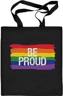 Shirtgeil CSD LGBT Rainbow Flag Be Proud Regenbogen Flagge Jutebeutel Baumwolltasche