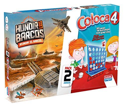 Falomir Coloca 4 + Hundir Barcos (Pack de Juegos de Mesa), multicolor...