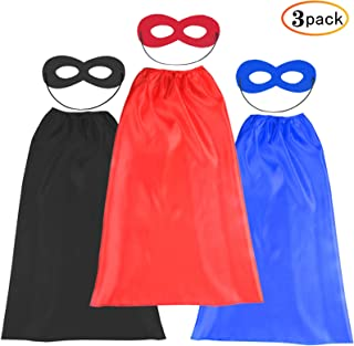 Kids Halloween Capes and Masks- Costume for Girls Boys Dress Up -Compatible Superhero Toys Best Gifts