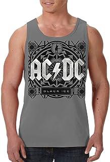 Hengtaichang ACDC High Voltage Camisetas de Tirantes para Hombre sin Mangas Graphic West Shirts Black