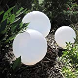 Dapo® Solar-Außen-Garten-Kugel-Leuchte-Lampe OLA Wege-Dekokations-Stimmungs-Party-Leuchte-Lampe IP44 (D: 20+25+30cm)