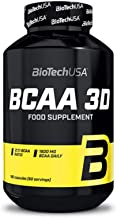 BIOTECH USA BCAA 3D / 180 Caps L-Leucine, L-Isoleucine and L-Valine in a 2:1:1 Ratio Branched Chain Essential Amino Acids ...