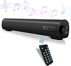 Sound Bar for TV Portable Audio Soundbar with Dual Built-in Subwoofer Surround Sound System Mini Home Theater 2 X 10W Blue...