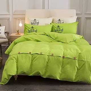 XJ&DD Solid Color Duvet Cover,Ab Version Cotton Quilt Cover,Home Thicked Quilt Set,Simple Four-Piece-J 180x220cm(71x87inch)